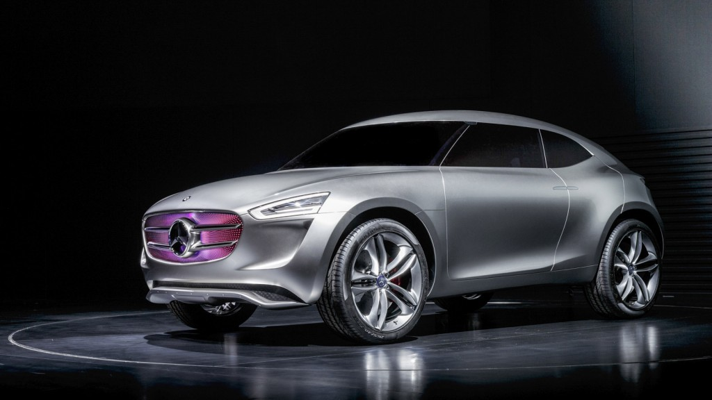 Mercedes benz reveals g code subcompact crossover concept for Mercedes benz concept suv