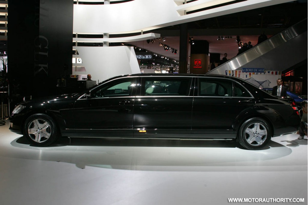 S600 pullman guard marks 80 years of armored mercedes cars for 2009 mercedes benz s600