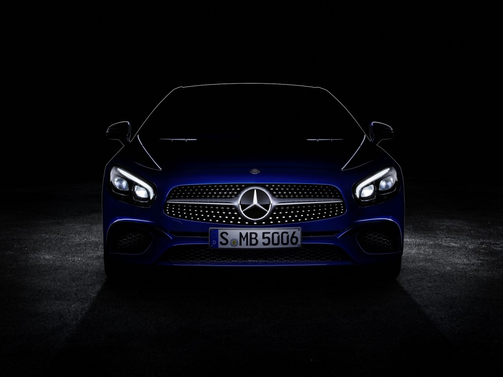 image teaser for 2017 mercedes benz sl debuting at 2015 los angeles. Cars Review. Best American Auto & Cars Review