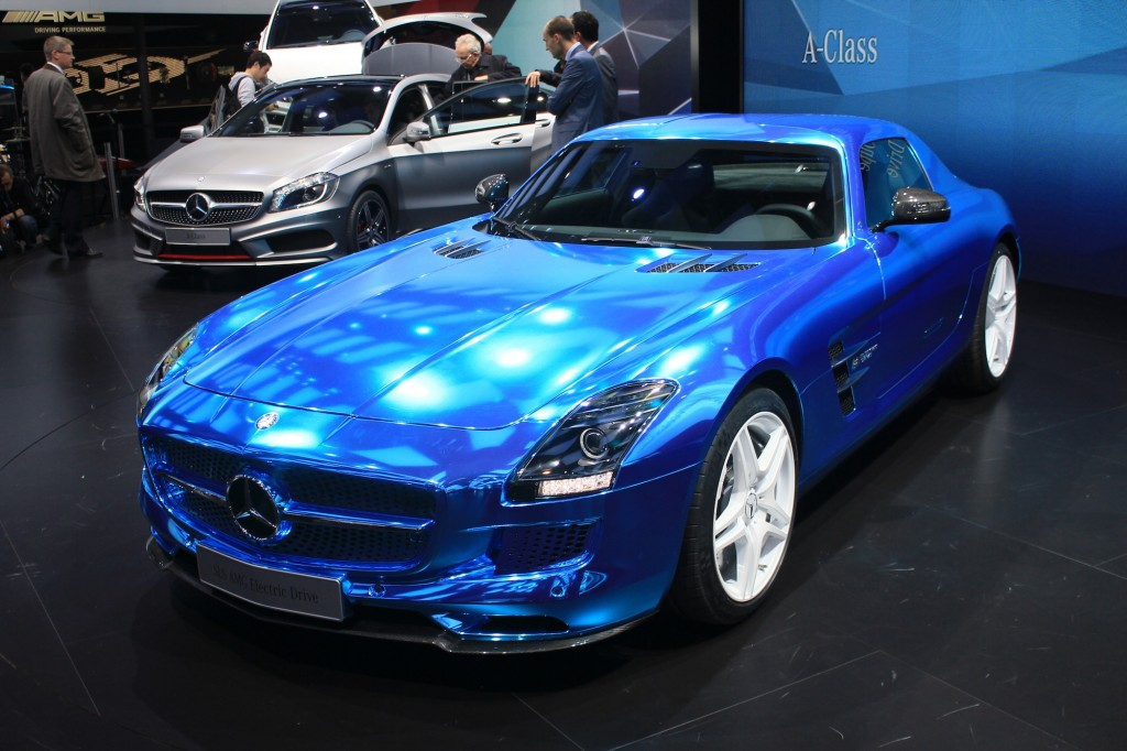 2014 mercedes benz sls amg coupe electric drive on the for Mercedes benz sls amg electric drive