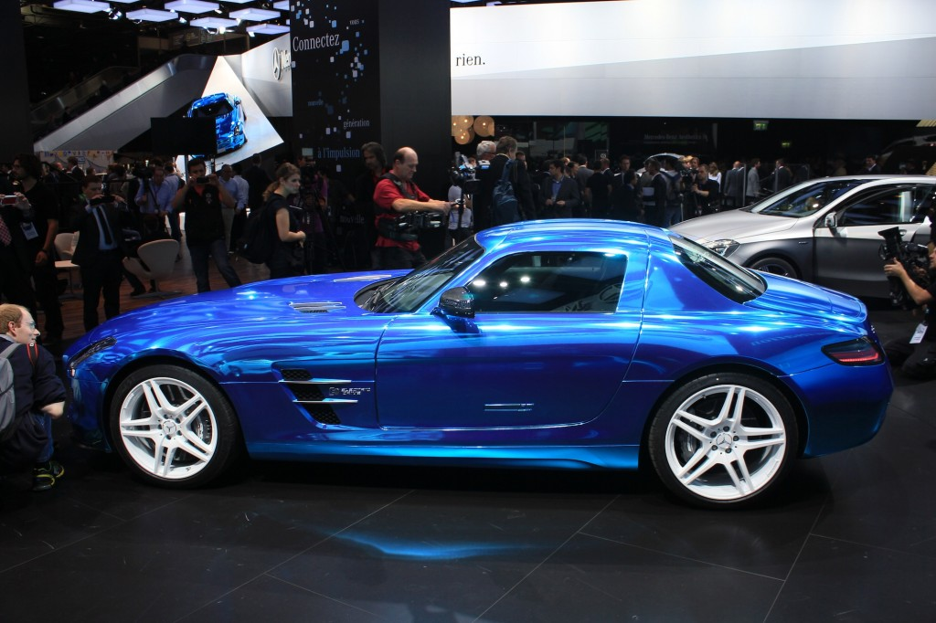 2014 mercedes benz sls amg coupe electric drive on the for Mercedes benz electric drive