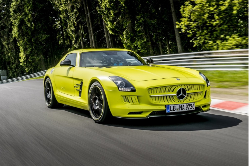 new n rburgring lap record for electric car set by sls amg. Black Bedroom Furniture Sets. Home Design Ideas