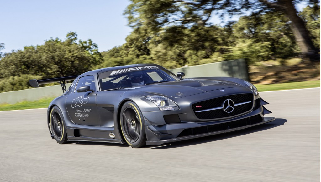 Mercedes sls amg gt3 45th anniversary edition track video for Mercedes benz race
