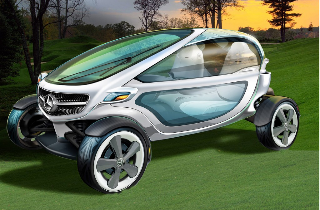 mercedes benz designs a golf cart