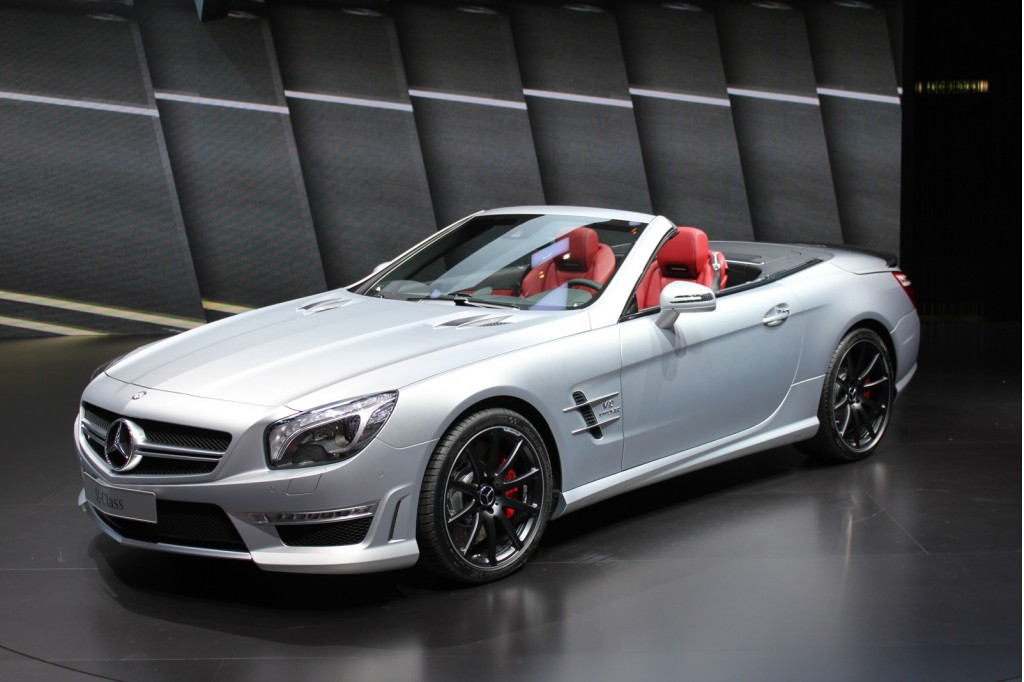 2013 mercedes benz sl63 amg live photos 2012 geneva motor for 2013 mercedes benz sl class sl63 amg