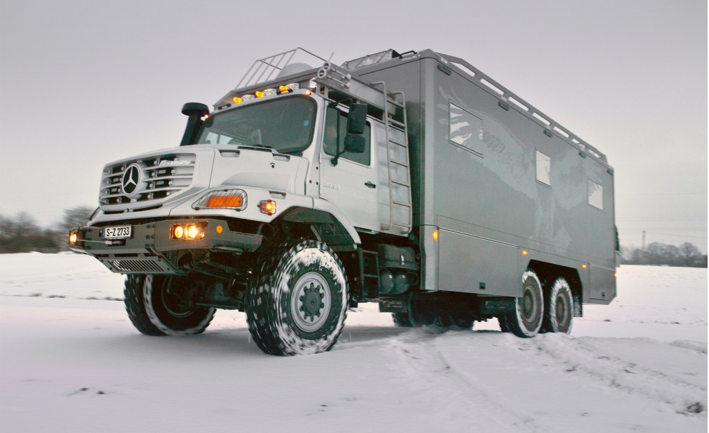 mercedes benz zetros 6x6 provides luxury zombie protection