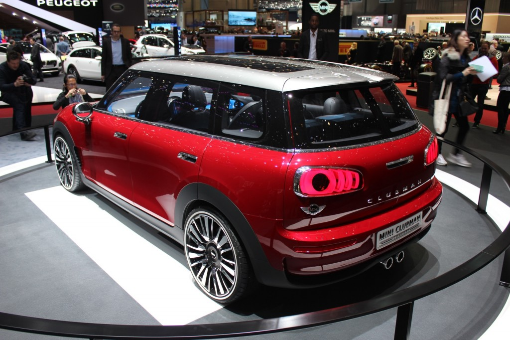 mini clubman concept live photos from geneva motor show. Black Bedroom Furniture Sets. Home Design Ideas