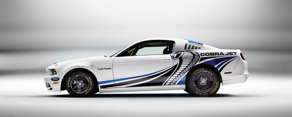 ford mustang cobra jet gets twin turbos sema 2012
