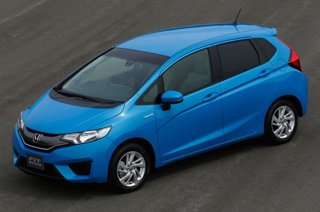all new 2015 honda fit appears hybrid model too not for