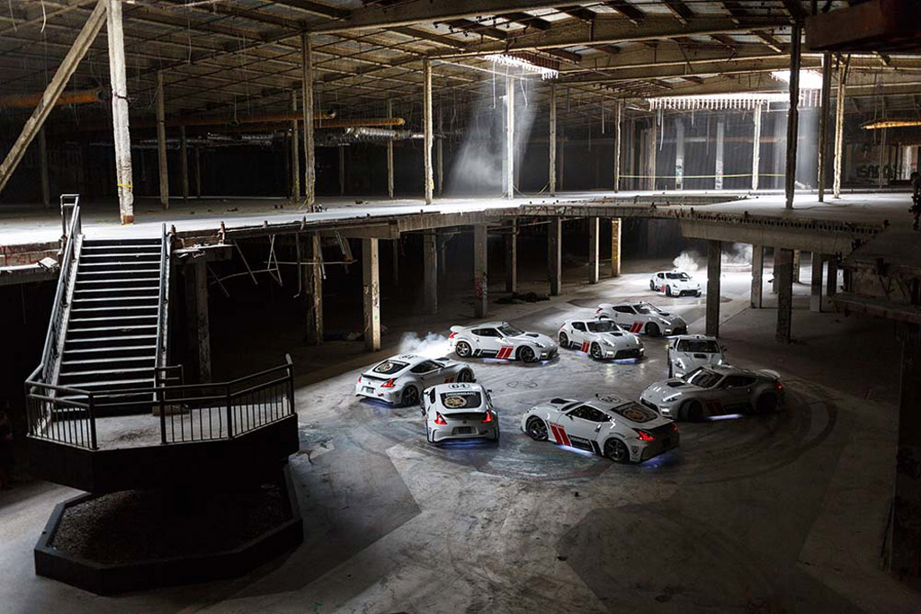Image Nissan 370z Drift Action At Abandoned Hawthorne