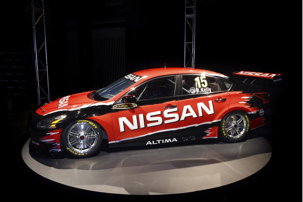 Nissan Altima race car that will compete in the 2013 V8 Supercars ...
