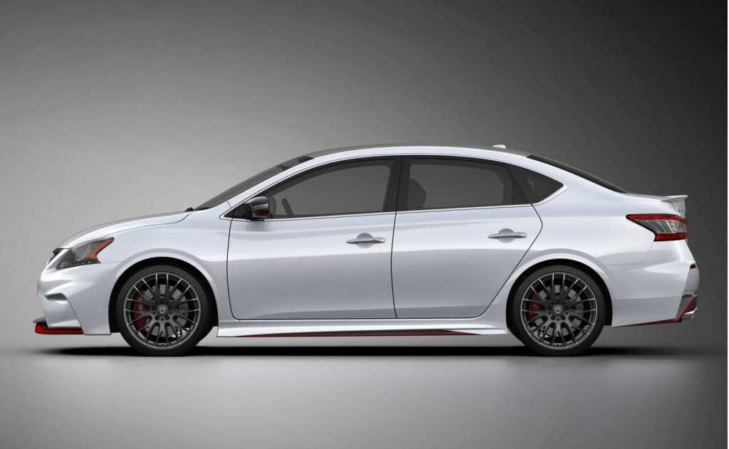 nissan hints at sporty sentra nismo model with new concept. Black Bedroom Furniture Sets. Home Design Ideas