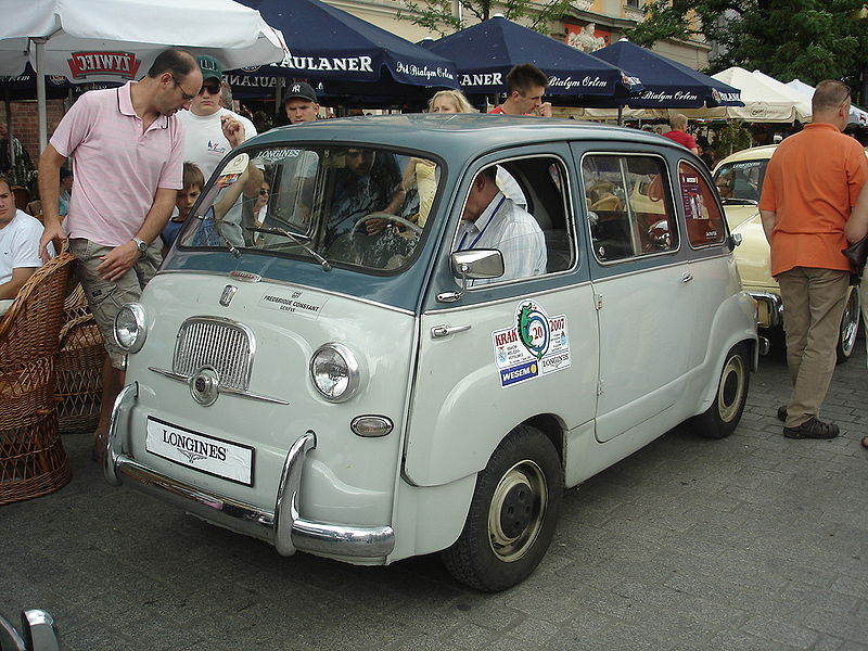 Image Original Fiat 600 Multipla Produced 1956 65 From