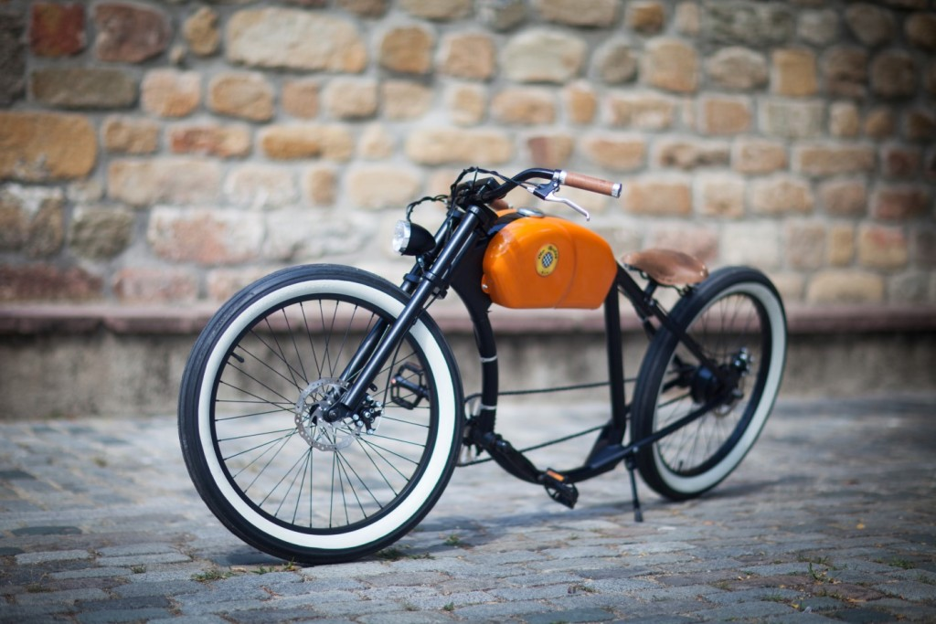 spanish electric bicycle has custom cruiser look. Black Bedroom Furniture Sets. Home Design Ideas