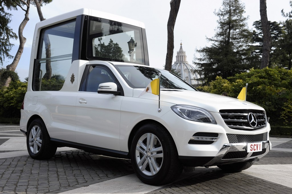 Pope Francis Presented With Mercedes M Class Based Popemobile