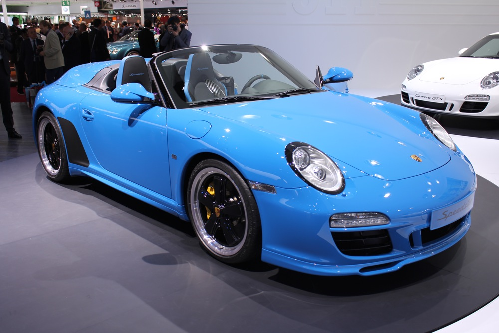 2010 paris auto show 2011 porsche 911 speedster and gts. Black Bedroom Furniture Sets. Home Design Ideas