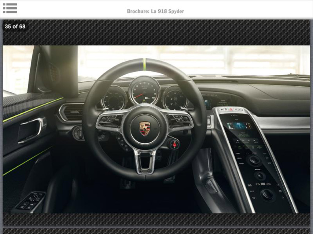 porsche 918 spyder leaked in brochure. Black Bedroom Furniture Sets. Home Design Ideas