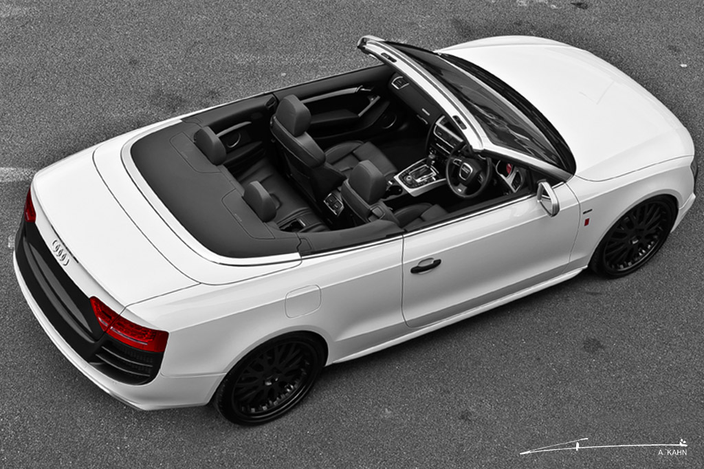 project kahn adds bespoke touch to audi a5 cabriolet. Black Bedroom Furniture Sets. Home Design Ideas