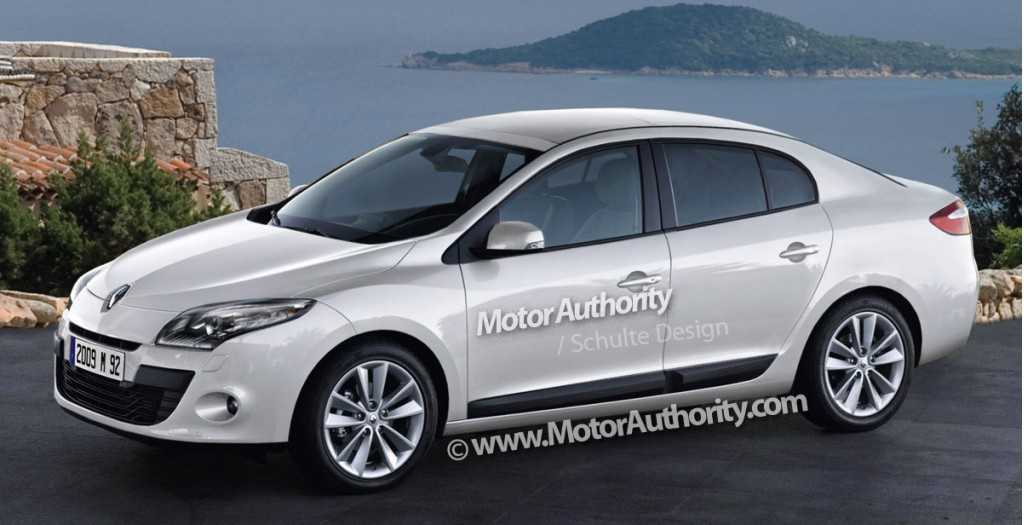 spy shots renault megane sedan caught winter testing. Black Bedroom Furniture Sets. Home Design Ideas