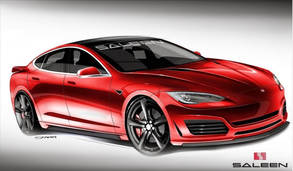 Saleen Teases Its First Electric Car A Custom Tesla Model S