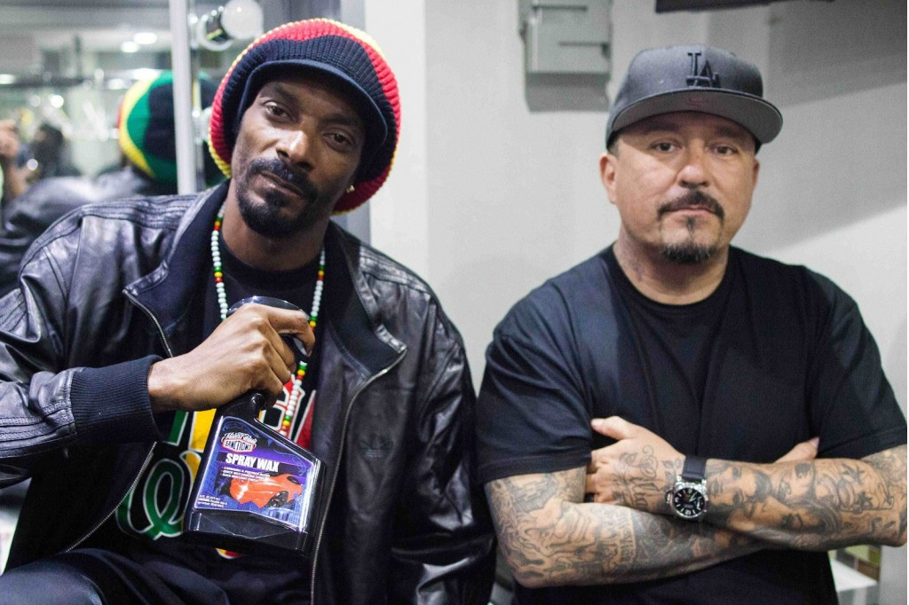 Snoop Dogg and Mister Cartoon, teamed up to promote Sanctiond car care products