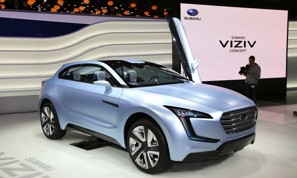 Subaru viziv concept diesel hybrid crossover from geneva for What does a motor vehicle report show