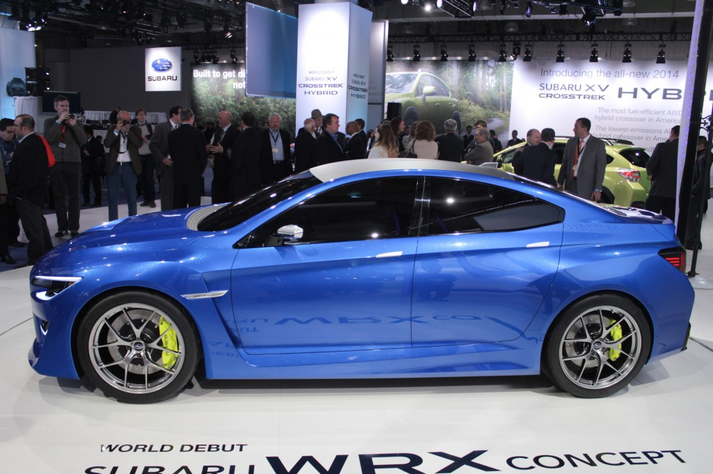 2013 subaru wrx concept new york auto show live shots. Black Bedroom Furniture Sets. Home Design Ideas