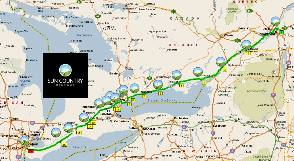 Toyota Dealers In Delaware >> Image: Sun Country Highway 401 corridor map, size: 1024 x ...