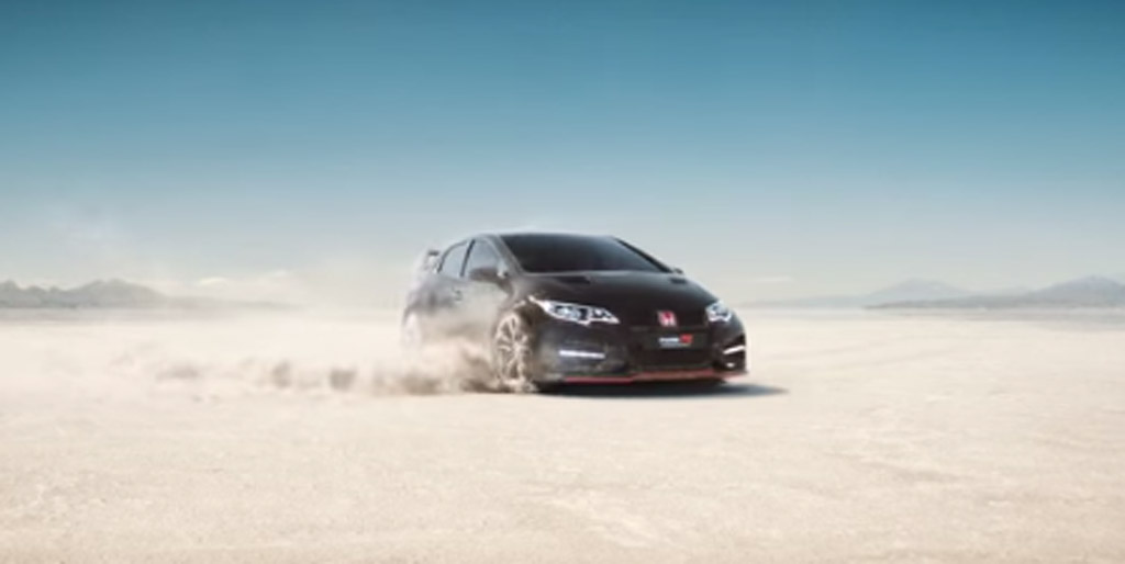2015 honda civic type r appears briefly in new promo video. Black Bedroom Furniture Sets. Home Design Ideas