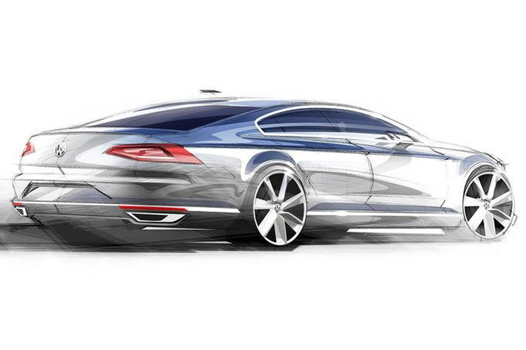 2015 volkswagen passat european spec teased in new sketches. Black Bedroom Furniture Sets. Home Design Ideas