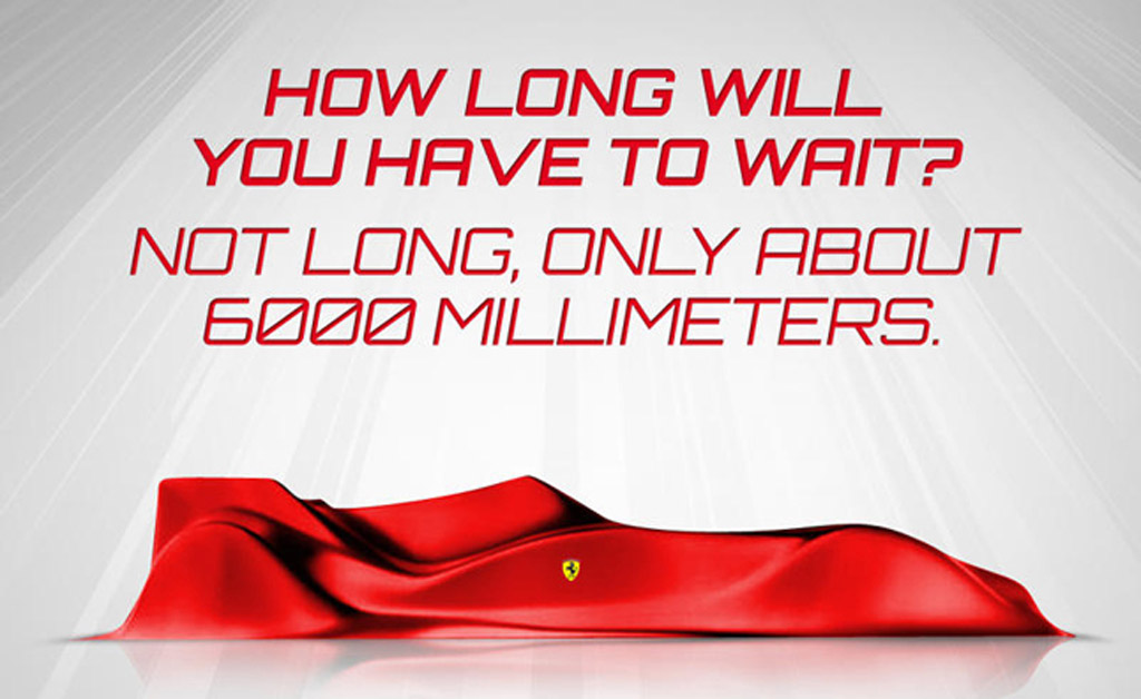 Teaser for Ferrari's 2013 Formula One race car
