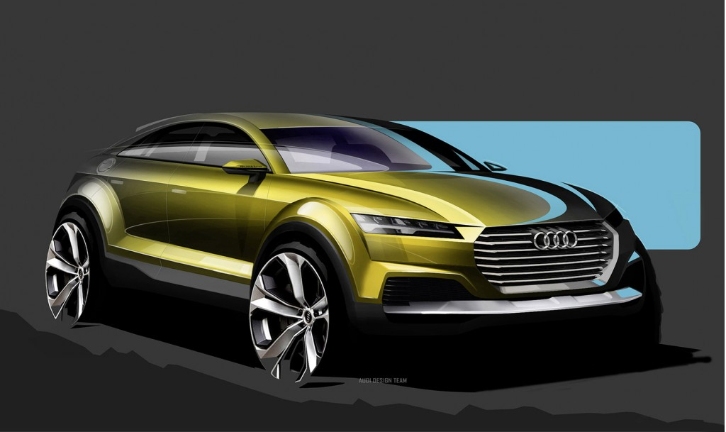 audi q4 hybrid crossover concept sketches appear before beijing show. Black Bedroom Furniture Sets. Home Design Ideas