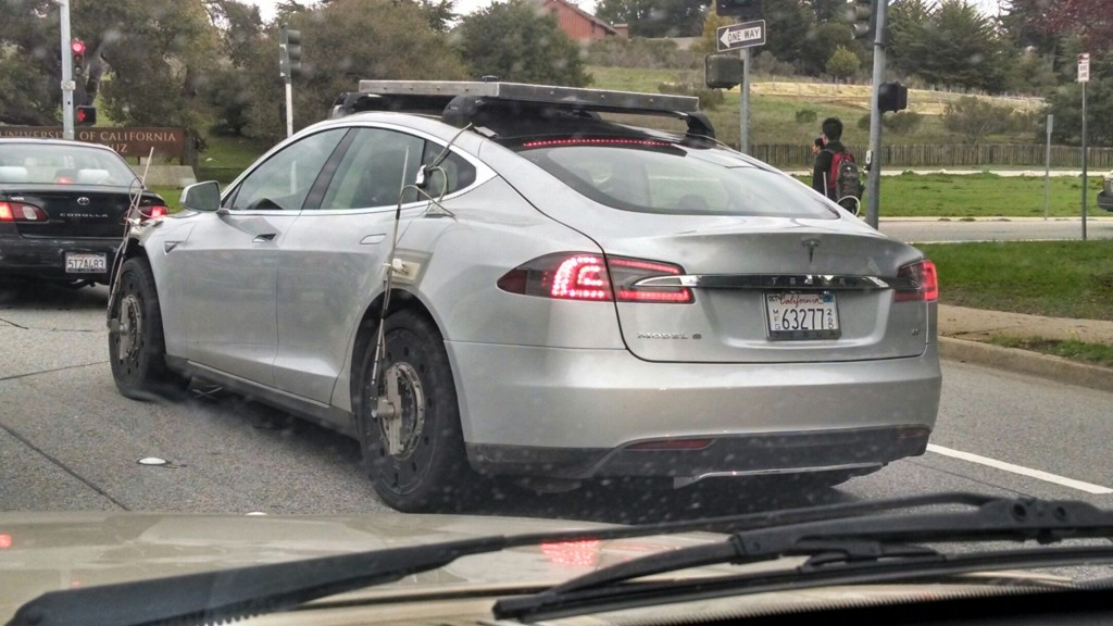 Image Tesla Model S All Wheel Drive Prototype Testing In California March 2014 Size 1024 X