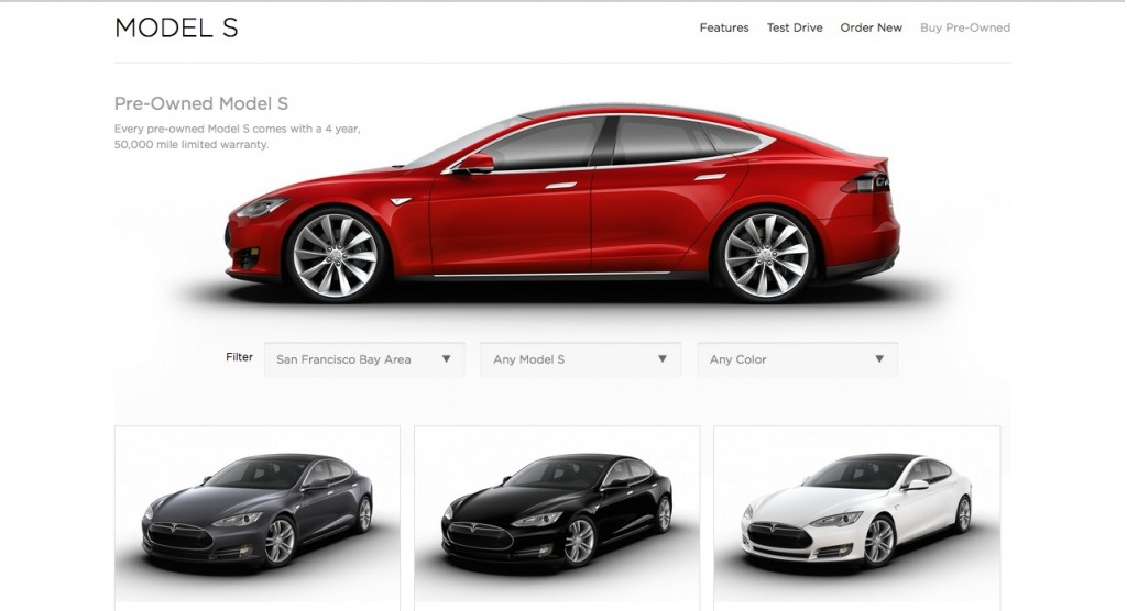 Image tesla model s pre owned page screencap size 1024 for Pre owned motor cars