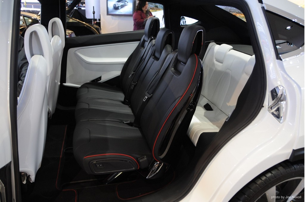 Tesla model x interior 3rd row