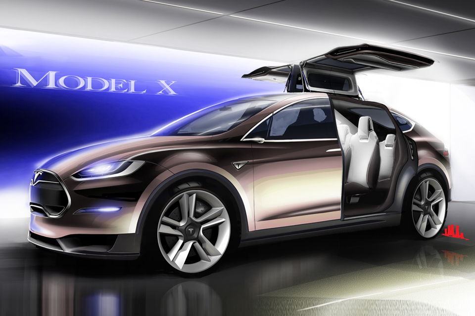 Tesla Model X Unveiled Electric Luxury Crossover With Wings