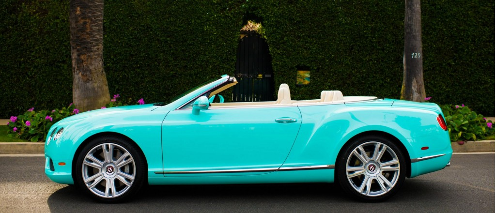 Beverly hills dealer commissions tiffany themed bentleys for Car paint company