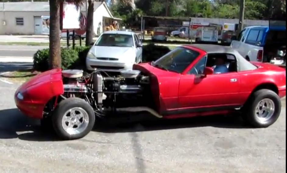 Twin-Engine Miata Is 16 Cylinders Of Awesome: Video