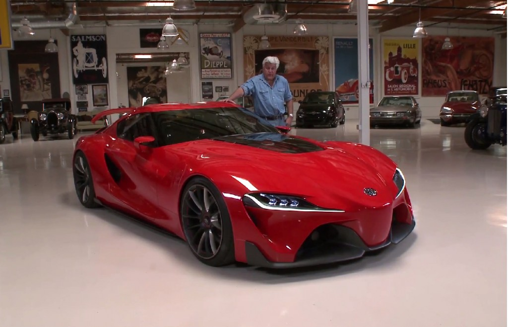 Toyota ft 1 concept on jay leno 39 s garage video for Garage concept auto