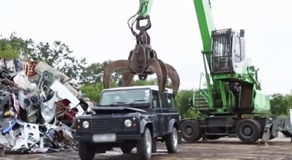 U S Customs Crush Illegally Imported Land Rover Defender