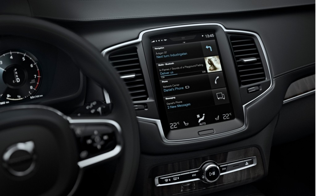 2016 volvo xc90 tablet like sensus is the future of infotainment. Black Bedroom Furniture Sets. Home Design Ideas
