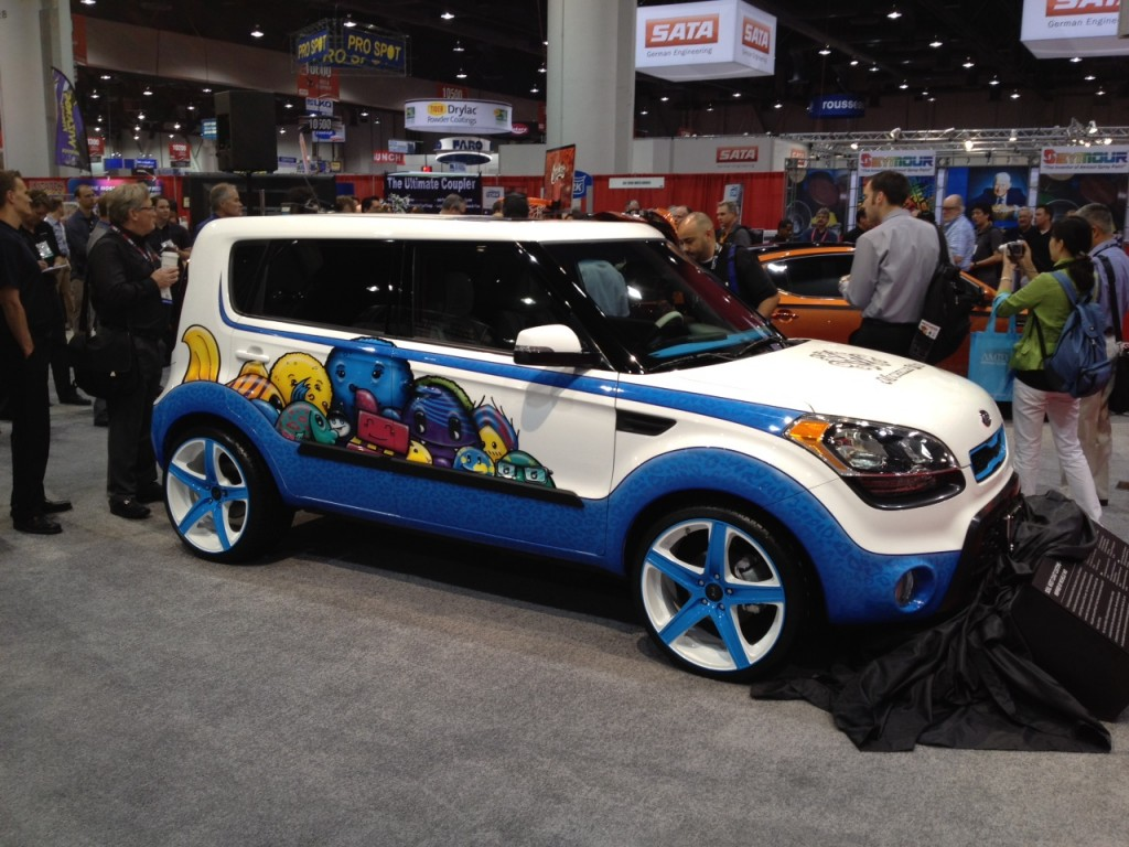 2012 kia soul inspired by michelle wie 2011 sema live photos. Black Bedroom Furniture Sets. Home Design Ideas