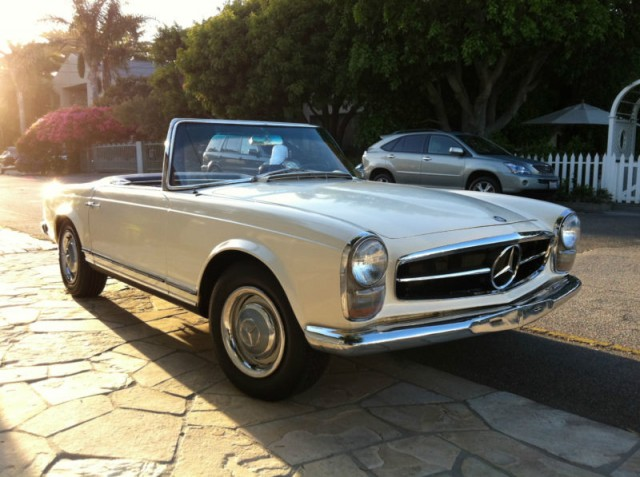 Converted mercedes sl electric car on ebay is a real beauty for 1965 mercedes benz