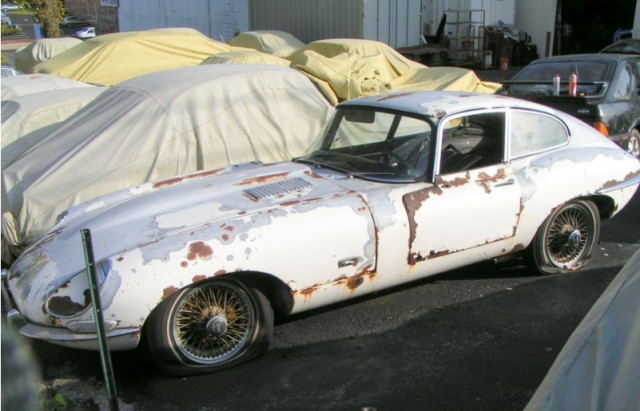 Classic Jaguar E Type Abducted Shot Rescued Then Ignored