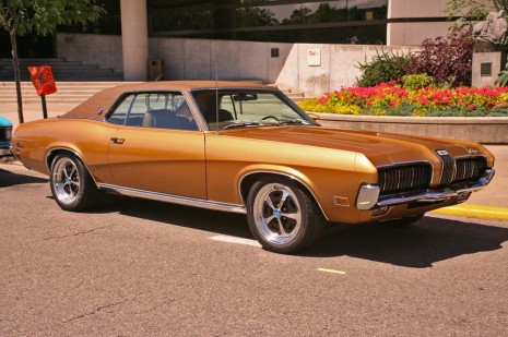 Rogue muscle car invades president george w bushs front lawn 1970 mercury cougar xr7 publicscrutiny Gallery