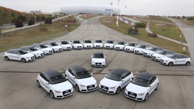 audi a1 e tron fleet hits the streets of munich. Black Bedroom Furniture Sets. Home Design Ideas
