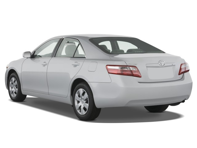 image 2009 toyota camry 4 door sedan i4 auto le natl angular rear exterior. Black Bedroom Furniture Sets. Home Design Ideas