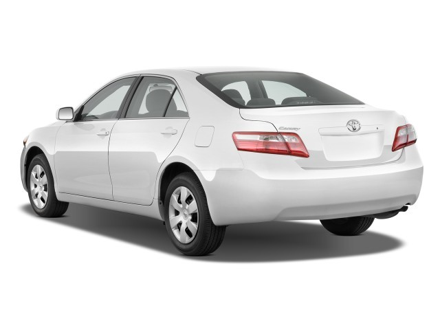 image 2009 toyota camry 4 door sedan i4 auto natl angular rear exterior view size 640 x 480. Black Bedroom Furniture Sets. Home Design Ideas