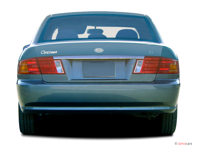 2003 kia optima 4 door sedan lx manual rear exterior view. Black Bedroom Furniture Sets. Home Design Ideas