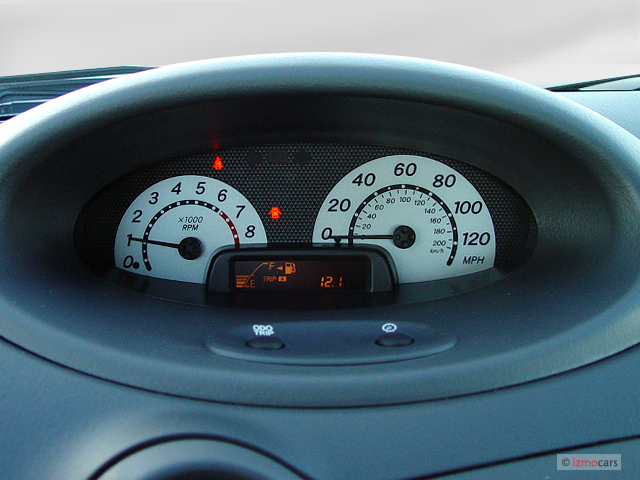 2003 Toyota Echo 4-door Sedan Manual (Natl) Instrument Cluster